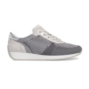 ARA grey & silver woven Lily style sneakers